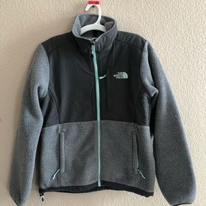 North Face shell fleece jacket woman's small grey